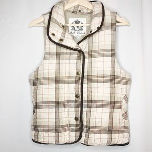 BB Dakota Plaid Puff Vest